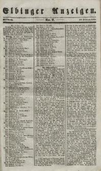 Elbinger Anzeigen, Nr. 7. Mittwoch, 24. Januar 1849