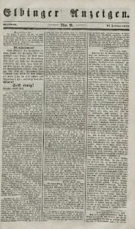 Elbinger Anzeigen, Nr. 9. Mittwoch, 31. Januar 1849
