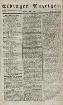 Elbinger Anzeigen, Nr. 16. Sonnabend, 24. Februar 1849