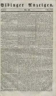 Elbinger Anzeigen, Nr. 19. Mittwoch, 7. März 1849