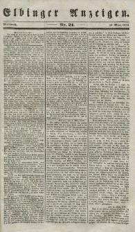 Elbinger Anzeigen, Nr. 21. Mittwoch, 14. März 1849