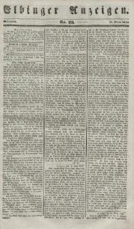 Elbinger Anzeigen, Nr. 23. Mittwoch, 21. März 1849