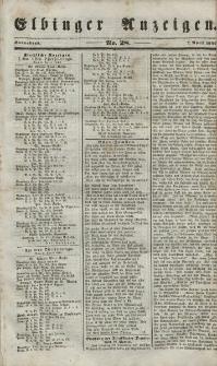 Elbinger Anzeigen, Nr. 28. Sonnabend, 7. April 1849