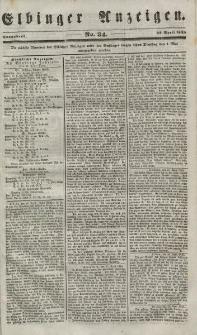 Elbinger Anzeigen, Nr. 34. Sonnabend, 28. April 1849