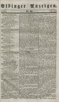 Elbinger Anzeigen, Nr. 35. Dienstag, 1. Mai 1849