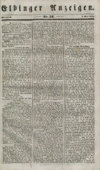 Elbinger Anzeigen, Nr. 37. Mittwoch, 9. Mai 1849