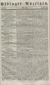 Elbinger Anzeigen, Nr. 38. Sonnabend, 12. Mai 1849