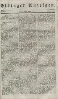 Elbinger Anzeigen, Nr. 45. Mittwoch, 6. Juni 1849
