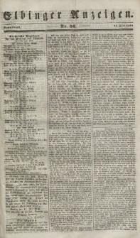 Elbinger Anzeigen, Nr. 56. Sonnabend, 14. Juli 1849