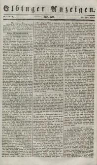 Elbinger Anzeigen, Nr. 57. Mittwoch, 18. Juli 1849
