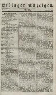 Elbinger Anzeigen, Nr. 62. Sonnabend, 4. August 1849