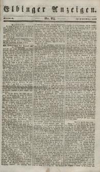 Elbinger Anzeigen, Nr. 75. Mittwoch, 19. September 1849