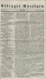 Elbinger Anzeigen, Nr. 82. Sonnabend, 13. Oktober 1849