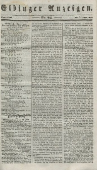 Elbinger Anzeigen, Nr. 84. Sonnabend, 20. Oktober 1849