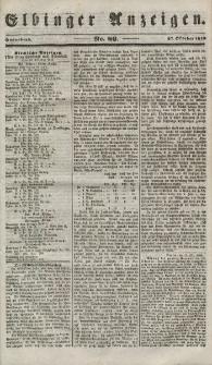 Elbinger Anzeigen, Nr. 86. Sonnabend, 27. Oktober 1849