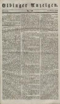 Elbinger Anzeigen, Nr. 87. Mittwoch, 31. Oktober 1849