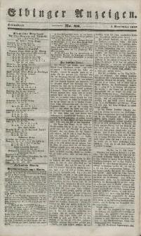 Elbinger Anzeigen, Nr. 88. Sonnabend, 3. November 1849