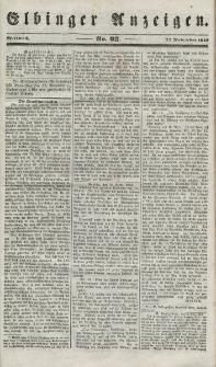 Elbinger Anzeigen, Nr. 93. Mittwoch, 21. November 1849