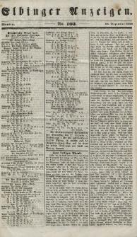 Elbinger Anzeigen, Nr. 103. Montag, 24. Dezember 1849