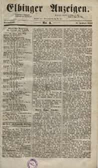 Elbinger Anzeigen, Nr. 4. Sonnabend, 11. Januar 1851