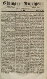 Elbinger Anzeigen, Nr. 17. Mittwoch, 26. Februar 1851