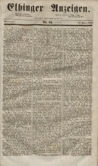 Elbinger Anzeigen, Nr. 21. Mittwoch, 12. März 1851