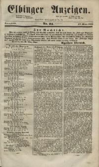 Elbinger Anzeigen, Nr. 24. Sonnabend, 22. März 1851