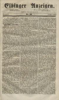Elbinger Anzeigen, Nr. 27. Mittwoch, 2. April 1851