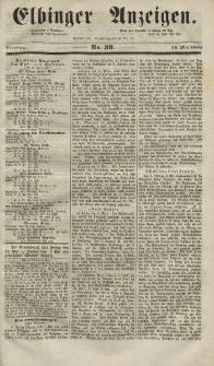 Elbinger Anzeigen, Nr. 39. Dienstag, 13. Mai 1851