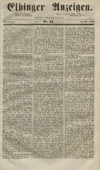Elbinger Anzeigen, Nr. 41. Mittwoch, 21. Mai 1851