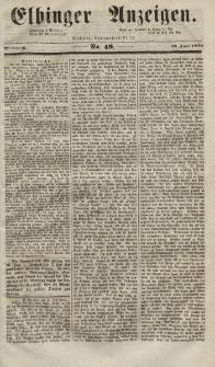Elbinger Anzeigen, Nr. 49. Mittwoch, 18. Juni 1851