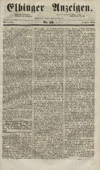 Elbinger Anzeigen, Nr. 53. Mittwoch, 2. Juli 1851
