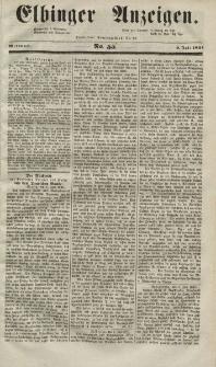 Elbinger Anzeigen, Nr. 55. Mittwoch, 9. Juli 1851
