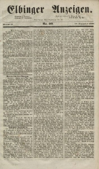 Elbinger Anzeigen, Nr. 99. Mittwoch, 10. Dezember 1851