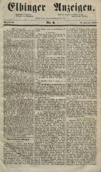 Elbinger Anzeigen, Nr. 6. Mittwoch, 21. Januar 1852
