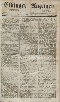 Elbinger Anzeigen, Nr. 10. Mittwoch, 4. Februar 1852