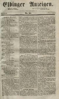 Elbinger Anzeigen, Nr. 28. Mittwoch, 7. April 1852