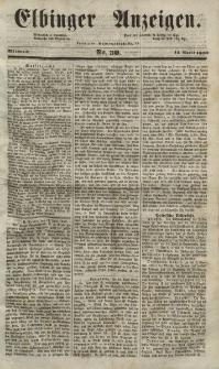 Elbinger Anzeigen, Nr. 30. Mittwoch, 14. April 1852