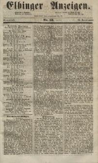 Elbinger Anzeigen, Nr. 33. Sonnabend, 24. April 1852