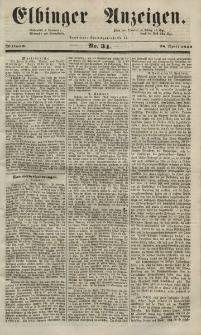 Elbinger Anzeigen, Nr. 34. Mittwoch, 28. April 1852