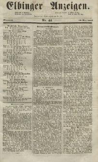 Elbinger Anzeigen, Nr. 41. Mittwoch, 19. Mai 1852