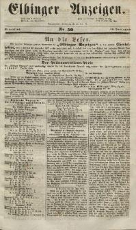 Elbinger Anzeigen, Nr. 50. Sonnabend, 19. Juni 1852