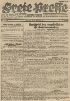 Freie Presse, Nr. 209 Mittwoch 14. Dezember 1927 3. Jahrgang