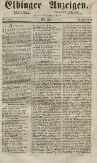 Elbinger Anzeigen, Nr. 51. Mittwoch, 23. Juni 1852