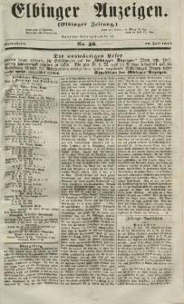 Elbinger Anzeigen, Nr. 56. Sonnabend, 10. Juli 1852