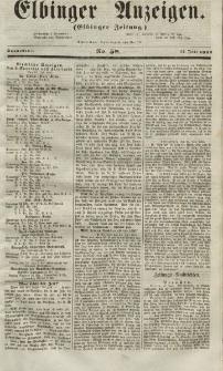 Elbinger Anzeigen, Nr. 58. Sonnabend, 17. Juli 1852