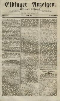 Elbinger Anzeigen, Nr. 61. Mittwoch, 28. Juli 1852