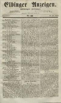 Elbinger Anzeigen, Nr. 62. Sonnabend, 31. Juli 1852
