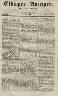 Elbinger Anzeigen, Nr. 67. Mittwoch, 18. August 1852