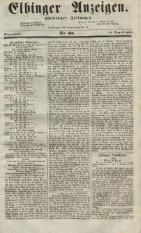 Elbinger Anzeigen, Nr. 68. Sonnabend, 21. August 1852